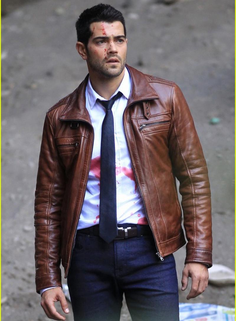 Buy Jesse Metcalfe Dead Rising Watchtower Brown Real Cowhide Leather Jacket Online