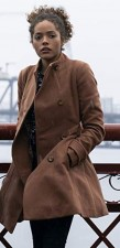 Lisa Hartman Tabitha Real Suede Leather Jacket