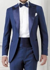 Slim Fit Groom Tuxedo for Wedding Formal Party Men Suits Groomsmen Suits