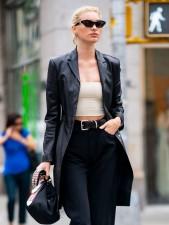 Elsa Hosk Real Sheep Skin Leather Jacket