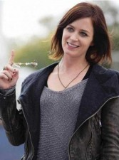 Emily Blunt Arthur Newman Real Distressed Cowhide Leather Jacket