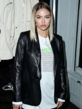 Amelia Gray Hamlin Real Cowhide Leather Jacket