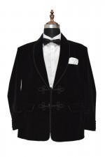 Dr Who Black Velvet Jacket Designer Wedding Party Wear Blazers