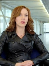 Scarlett Johansson Captain America Civil War Real Cowhide Leather Jacket