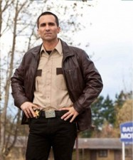 Bates Motel Vintage Brown Real Leather Jacket