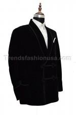 Men Smoking Black Dori velvet Designer shaw Blazer Coat Jacket