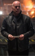 Extraction Bruce Willis Leonard Turner Black Leather Jacket
