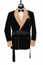Men Black Smoking Robes Designer Jacket Party Wear Blazer