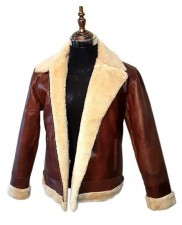 Men aviator B3 style cow-hide leather bomber flying jacket