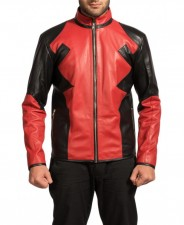 Dead Pool Superhero Gaming Real Leather Jacket Costume