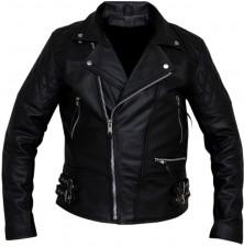 Vintage classic diamond motorcycle biker real leather jacket