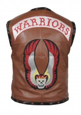 The warriors movie real leather vest jacket