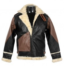 New B3 bomber double color flight winter leather jacket