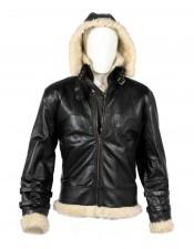 Men B3 bomber wwii cream real sheep skin leather jacket