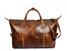Gym duffel travel hunter real leather bags
