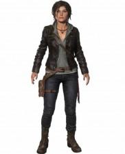 Lara Croft The Tomb Raider Dark Brown Real Cowhide Leather Jacket