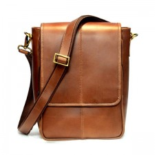 Latomi soft leather messenger brown real leather satchel bag genuine briefcase