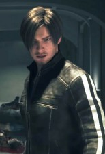 Leon S. Kennedy Black Resident Evil Real Cowhide Leather Jacket