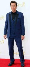Matthew mcconaughey Stylish Designer blue wedding dinner tuxedo suits