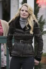 Jennifer Morrison Once Upon A Time Real Sheep Skin Leather Jacket