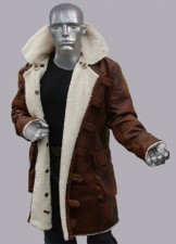 The dark knight rises bane batman brown real leather coat