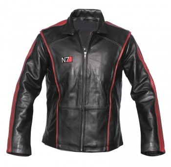 mass effect-3 n7 real leather jacket