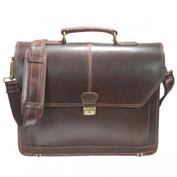 Brown Leather Laptop Bag for 14