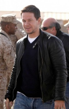 Broken City Mark Wahlberg Black Leather Jacket