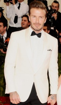 david beckham ivory white tuxedo 2 piece suit Coat and Pants