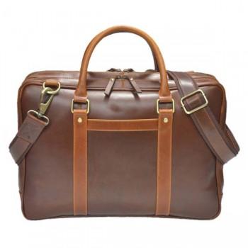 Vintage Nicon messenger brown laptop leather bag